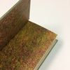 Reliure plein cuir détails des gardes couleurs