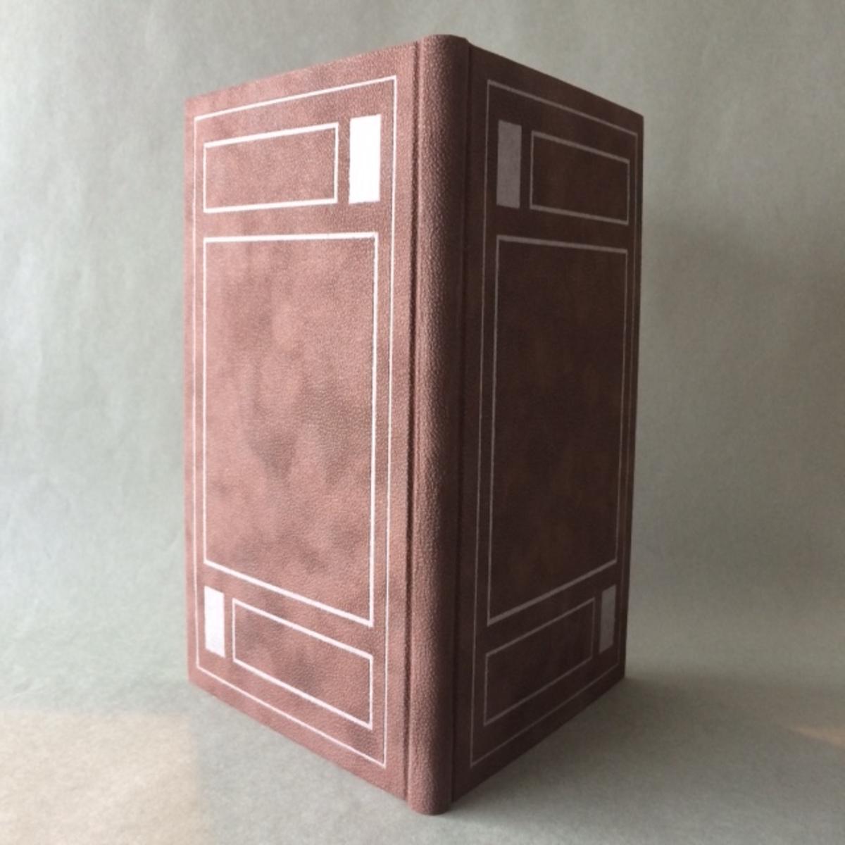 Livre papier velours décor motifs géométriques