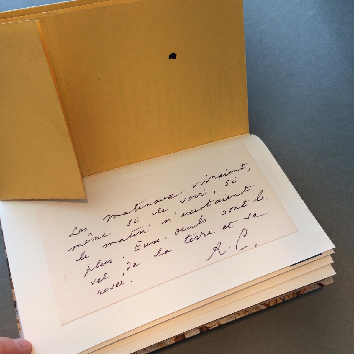Carte manuscrite