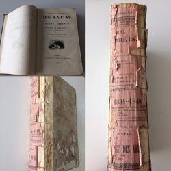 Vues de livres défraichis et dos abimé