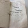 Livre ancien de géographie