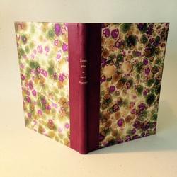 Livre ouvert cuir violet
