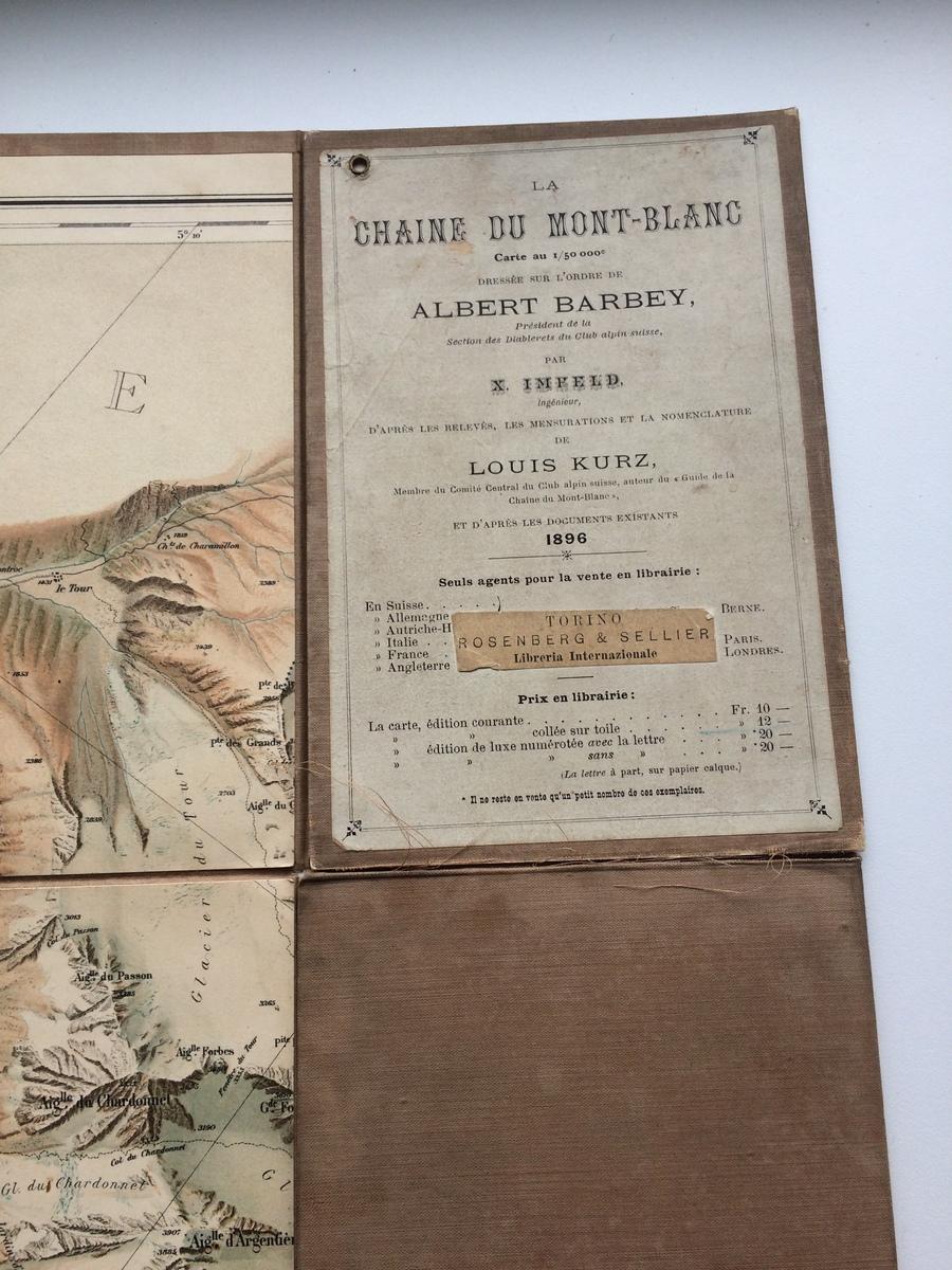 Carte du Mont Blanc