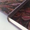 Reliure soignée plein cuir gardes couleur avec charnière en cuir maroquin
